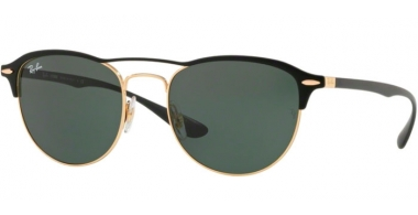Sunglasses - Ray-Ban® - Ray-Ban® RB3596 - 907671 GOLD TOP ON MATTE BLACK // DARK GREEN
