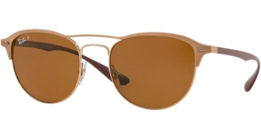 Sunglasses - Ray-Ban® - Ray-Ban® RB3596 - 909283 LIGHT BROWN ON TOP MATTE // DARK BROWN POLARIZED