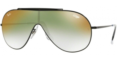 Sunglasses - Ray-Ban® - Ray-Ban® RB3597 - 002/W0 BLACK // CLEAR GRADIENT GREEN MIRROR RED
