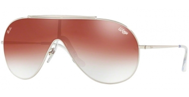 Sunglasses - Ray-Ban® - Ray-Ban® RB3597 - 003/V0 SILVER // CLEAR GRADIENT RED MIRROR RED