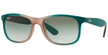 Gafas de Sol - Ray-Ban® - Ray-Ban® RB4202 ANDY - 63688E GRADIENT GREEN ON LIGHT BROWN RUBBER // GREEN GRADIENT