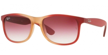 Gafas de Sol - Ray-Ban® - Ray-Ban® RB4202 ANDY - 63698H GRADIENT BORD ON RUBBER LIGHT PINK TRANSPARENT // CLEAR GRADIENT DARK VIOLET