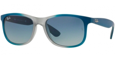 Gafas de Sol - Ray-Ban® - Ray-Ban® RB4202 ANDY - 63704L GRADIENT BLUE RUBBER LIGHT GREY TRANSPARENT // GREY GRADIENT BLUE