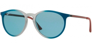 Sunglasses - Ray-Ban® - Ray-Ban® RB4274 - 6365F7 GRADIENT BLUE RUBBER LIGHT GREY TRANSPARENT // LIGHT BLUE EXTERNAL AV