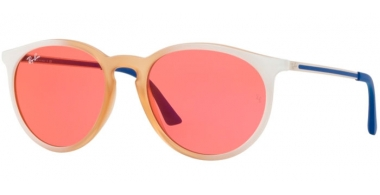 Sunglasses - Ray-Ban® - Ray-Ban® RB4274 - 6367C8 GRADIENT WHITE RUBBER LIGHT PINK TRANSPARENT // PINK MIRROR RED