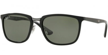 Sunglasses - Ray-Ban® - Ray-Ban® RB4303 - 601/9A BLACK // GREEN POLARIZED