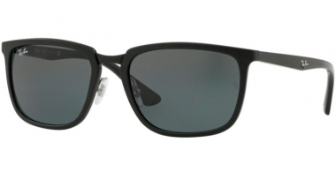 Sunglasses - Ray-Ban® - Ray-Ban® RB4303 - 601S71 MATTE BLACK // GREEN
