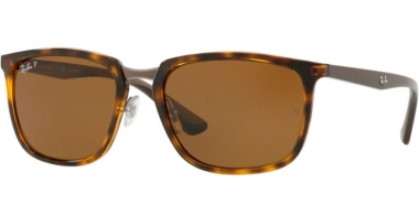 Sunglasses - Ray-Ban® - Ray-Ban® RB4303 - 710/83 LIGHT HAVANA // BROWN POLARIZED
