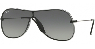 Sunglasses - Ray-Ban® - Ray-Ban® RB4311N - 629911 BLACK ON TOP WHITE // GREY GRADIENT DARK GREY