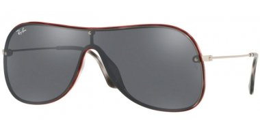 Sunglasses - Ray-Ban® - Ray-Ban® RB4311N - 63596G HAVANA GREY ON TOP RED // GREY MIRROR SILVER