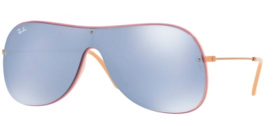 Sunglasses - Ray-Ban® - Ray-Ban® RB4311N - 63611U BEIGE ON TOP LILLAC // DARK VIOLET MIRROR SILVER
