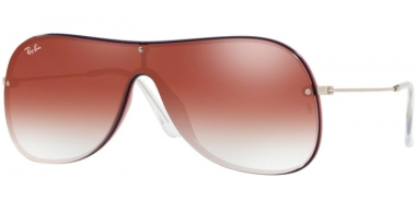 Sunglasses - Ray-Ban® - Ray-Ban® RB4311N - 6375V0 BORDEAUX ON TOP BLUE // CLEAR GRADIENT RED MIRROR RED