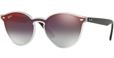Sunglasses - Ray-Ban® - Ray-Ban® RB4380N - 6355U0 MATTE TRANSPARENT // GREY GRADIENT MIRROR RED