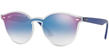 Sunglasses - Ray-Ban® - Ray-Ban® RB4380N - 6356X0 MATTE TRANSPARENT // CLEAR GRADIENT BLUE MIRROR RED