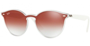 Sunglasses - Ray-Ban® - Ray-Ban® RB4380N - 6357V0 MATTE TRANSPARENT // CLEAR GRADIENT RED MIRROR RED