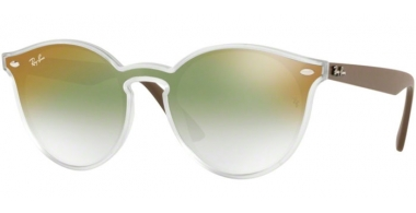 Sunglasses - Ray-Ban® - Ray-Ban® RB4380N - 6358W0 MATTE TRANSPARENT // CLEAR GRADIENT GREEN MIRROR RED