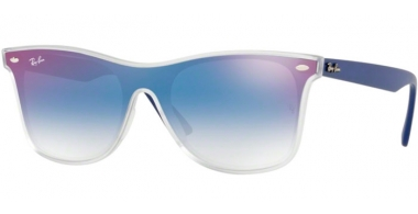 Sunglasses - Ray-Ban® - Ray-Ban® RB4440N BLAZE WAYFARER - 6356X0 MATTE TRANSPARENT // CLEAR GRADIENT BLUE MIRROR RED