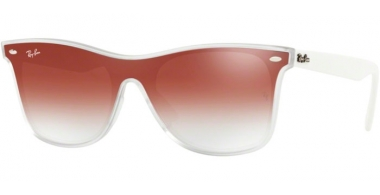 Gafas de Sol - Ray-Ban® - Ray-Ban® RB4440N BLAZE WAYFARER - 6357V0 MATTE TRANSPARENT // CLEAR GRADIENT RED MIRROR RED