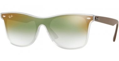 Sunglasses - Ray-Ban® - Ray-Ban® RB4440N BLAZE WAYFARER - 6358W0 MATTE TRANSPARENT // CLEAR GRADIENT GREEN MIRROR RED