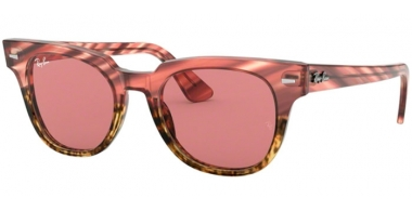 Sunglasses - Ray-Ban® - Ray-Ban® RB2168 METEOR - 1253U0 PINK GRADIENT BEIGE STRIPPED // VIOLET GOLD MIRROR PHOTOCHROMIC