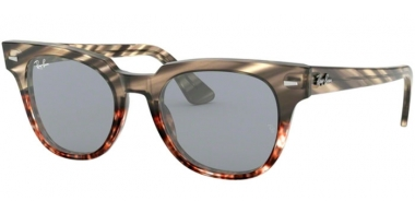 Sunglasses - Ray-Ban® - Ray-Ban® RB2168 METEOR - 1254Y5 GREY GRADIENT BROWN STRIPPED // BLUE GOLD MIRROR