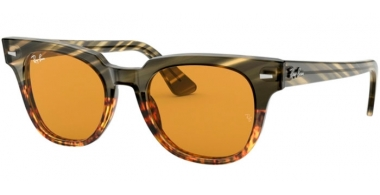 Sunglasses - Ray-Ban® - Ray-Ban® RB2168 METEOR - 12683L GREEN GRADIENT BROWN STRIPPED // YELLOW GOLD MIRROR