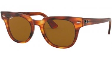 Sunglasses - Ray-Ban® - Ray-Ban® RB2168 METEOR - 954/33 STRIPPED HAVANA // BROWN