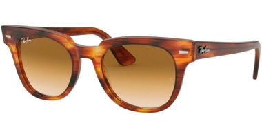 Sunglasses - Ray-Ban® - Ray-Ban® RB2168 METEOR - 954/51 STRIPPED HAVANA // BROWN GRADIENT