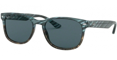 Sunglasses - Ray-Ban® - Ray-Ban® RB2184 - 1252R5 BLUE GRADIENT GREY STRIPPED // BLUE