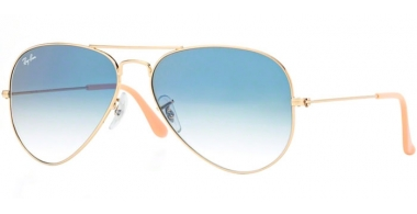 Gafas de Sol - Ray-Ban® - Ray-Ban® RB3025 AVIATOR LARGE METAL - 001/3F GOLD // CRYSTAL LIGHT BLUE GRADIENT