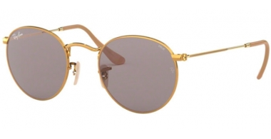 Sunglasses - Ray-Ban® - Ray-Ban® RB3447 ROUND METAL - 9064V8 GOLD // GREY PHOTOCHROMIC