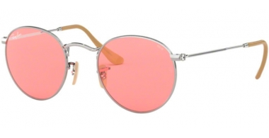 Sunglasses - Ray-Ban® - Ray-Ban® RB3447 ROUND METAL - 9065V7 SILVER // PINK PHOTOCHROMIC