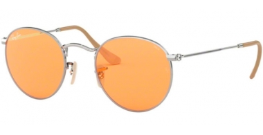Sunglasses - Ray-Ban® - Ray-Ban® RB3447 ROUND METAL - 9065V9 SILVER // ORANGE PHOTOCHROMIC