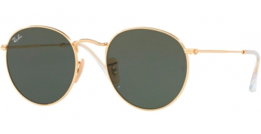 Sunglasses - Ray-Ban® - Ray-Ban® RB3447N ROUND METAL - 001 ARISTA // CRYSTAL GREEN