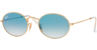 Sunglasses - Ray-Ban® - Ray-Ban® RB3547N OVAL - 001/3F ARISTA // CRYSTAL WHITE GRADIENT BLUE