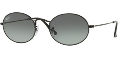 Sunglasses - Ray-Ban® - Ray-Ban® RB3547N OVAL - 002/71 BLACK // GREY GREEN