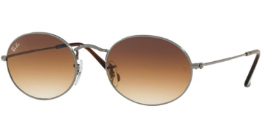 Sunglasses - Ray-Ban® - Ray-Ban® RB3547N OVAL - 004/51 GUNMETAL // CRYSTAL BROWN GRADIENT