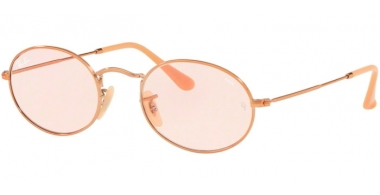 Sunglasses - Ray-Ban® - Ray-Ban® RB3547N OVAL - 91310X COPPER // LIGHT PINK PHOTOCHROMIC
