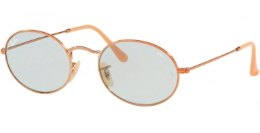 Sunglasses - Ray-Ban® - Ray-Ban® RB3547N OVAL - 91310Y COPPER // LIGHT BLUE PHOTOCHROMIC