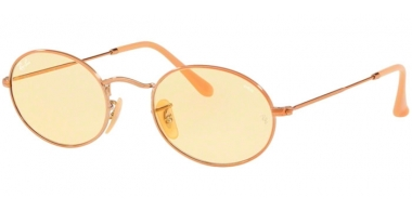 Sunglasses - Ray-Ban® - Ray-Ban® RB3547N OVAL - 91310Z COPPER // LLIGHT YELLOW PHOTOCHROMIC