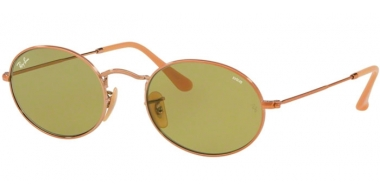 Sunglasses - Ray-Ban® - Ray-Ban® RB3547N OVAL - 91314C COPPER // GREEN PHOTOCHROMIC