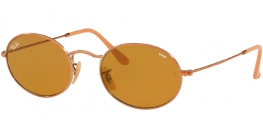 Sunglasses - Ray-Ban® - Ray-Ban® RB3547N OVAL - 91314I COPPER // BROWN PHOTOCHROMIC