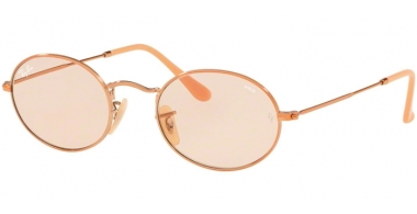 Sunglasses - Ray-Ban® - Ray-Ban® RB3547N OVAL - 9131S0 COPPER // LIGHT BROWN PHOTOCHROMIC