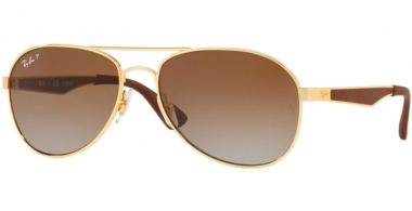 Gafas de Sol - Ray-Ban® - Ray-Ban® RB3549 - 001/T5 GOLD // CLEAR GRADIENT GREEN POLARIZED