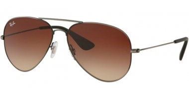 Sunglasses - Ray-Ban® - Ray-Ban® RB3558 - 913913 MATTE BLACK ANTIQUE // BROWN GRADIENT