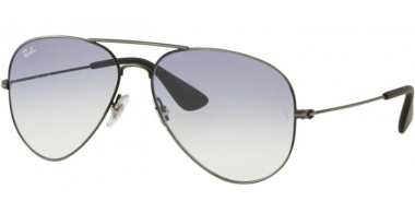 Sunglasses - Ray-Ban® - Ray-Ban® RB3558 - 913919 MATTE BLACK ANTIQUE // LIGHT BLUE GRADIENT