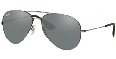 Sunglasses - Ray-Ban® - Ray-Ban® RB3558 - 91396G MATTE BLACK ANTIQUE // GREY MIRROR SILVER