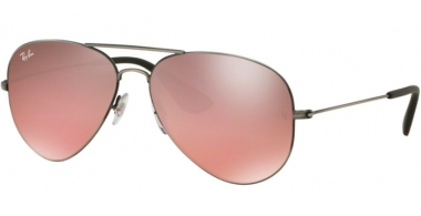 Sunglasses - Ray-Ban® - Ray-Ban® RB3558 - 91396U MATTE BLACK ANTIQUE // PINK MIRROR SILVER
