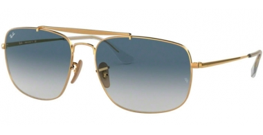 Sunglasses - Ray-Ban® - Ray-Ban® RB3560 THE COLONEL - 001/3F GOLD // CLEAR GRADIENT BLUE