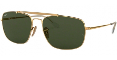Sunglasses - Ray-Ban® - Ray-Ban® RB3560 THE COLONEL - 001 GOLD // GREEN